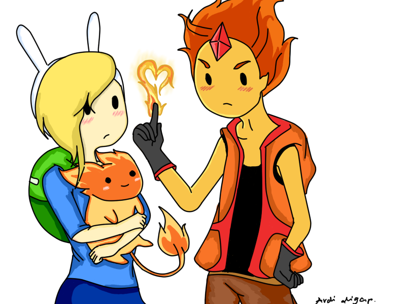 Genderbend Flame Prince and Fionna by purple23cutie on