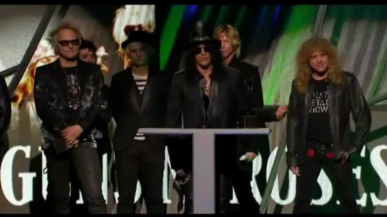 Guns N' Roses - Introductory Speech - Rock And Roll Hall Of Fame 2012 [HD]