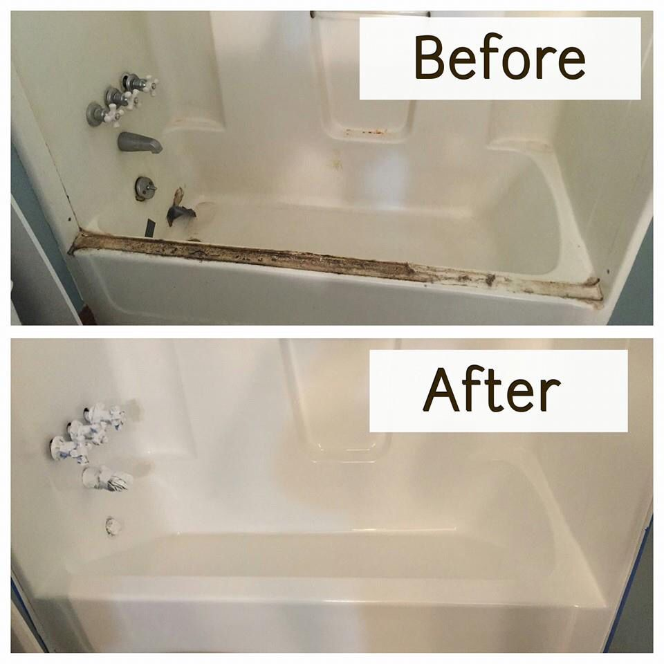 At This House We Removed The Old Shower Door And Gelcoated The