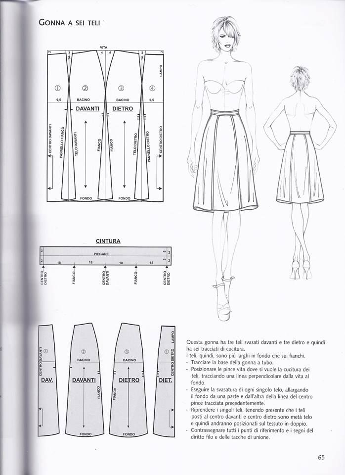 Pin de Sandy Vianey en costura | Pinterest | Falda, Patronaje y Costura