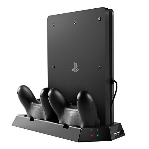 Uzopi Ps4 Slim Vertical Stand Console Cooler With Dual Cooling Fan