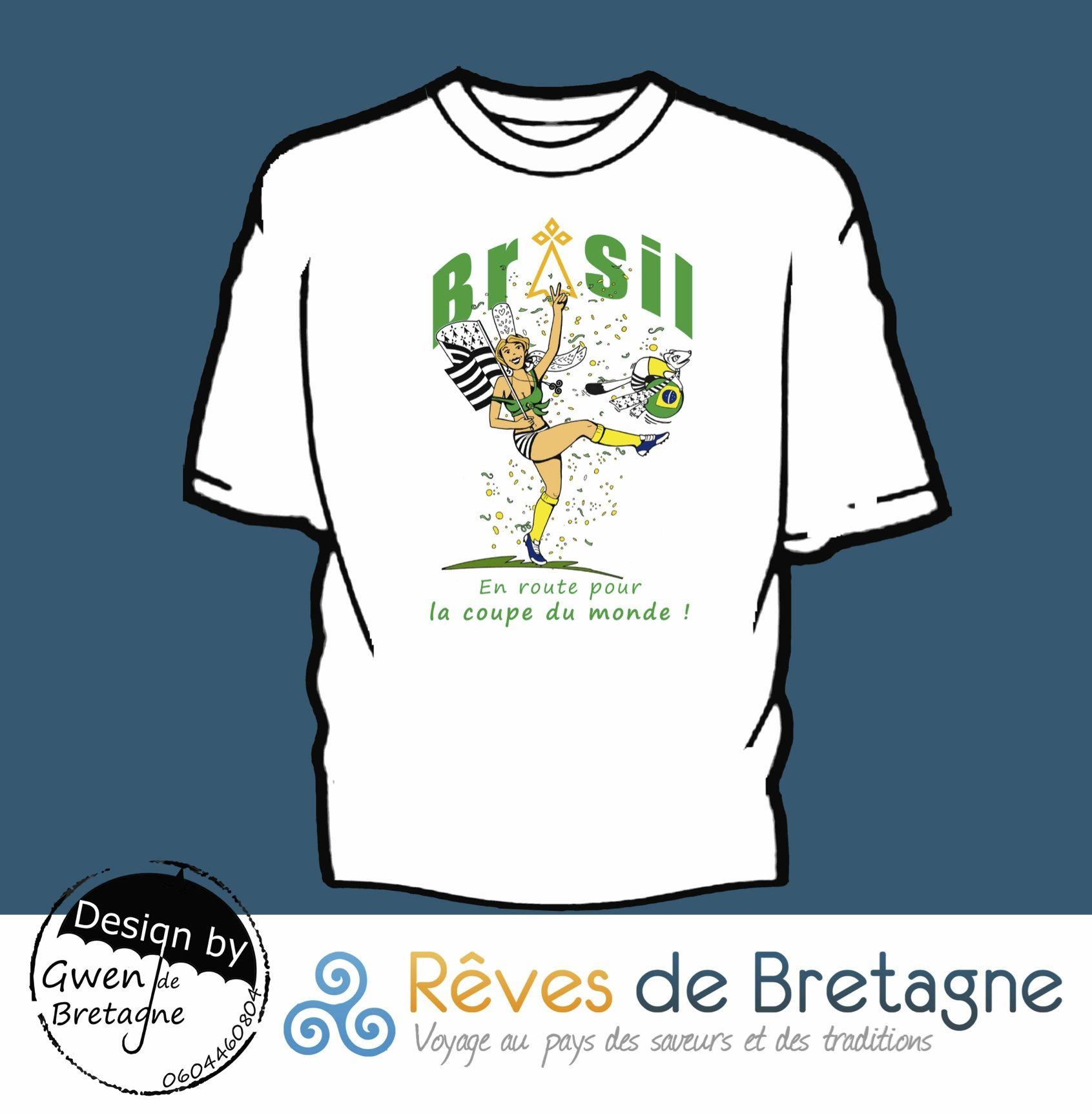 Collection Breizhil 2014, la petit Bigoudène rigolote est bien équipée pour la prochaine coupe du monde de foot au Brésil