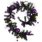 Halloween Garland - Black & Purple