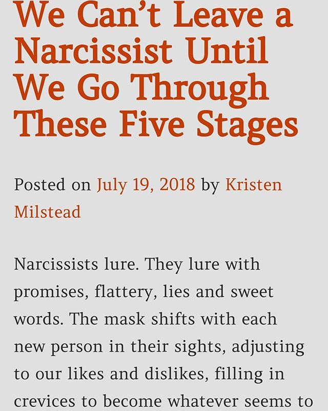 Leaving a Narcissist Occurs in 5 Empowering Stages