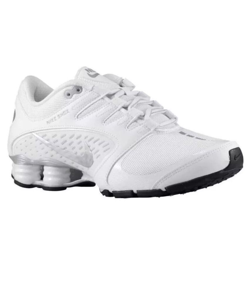 d12514feb955 NEW YOUTH NIKE SHOX DELIVER PNT GS 615981-100 WHITE SILVER Size 3.5 NWOB  Bin 17  Nike
