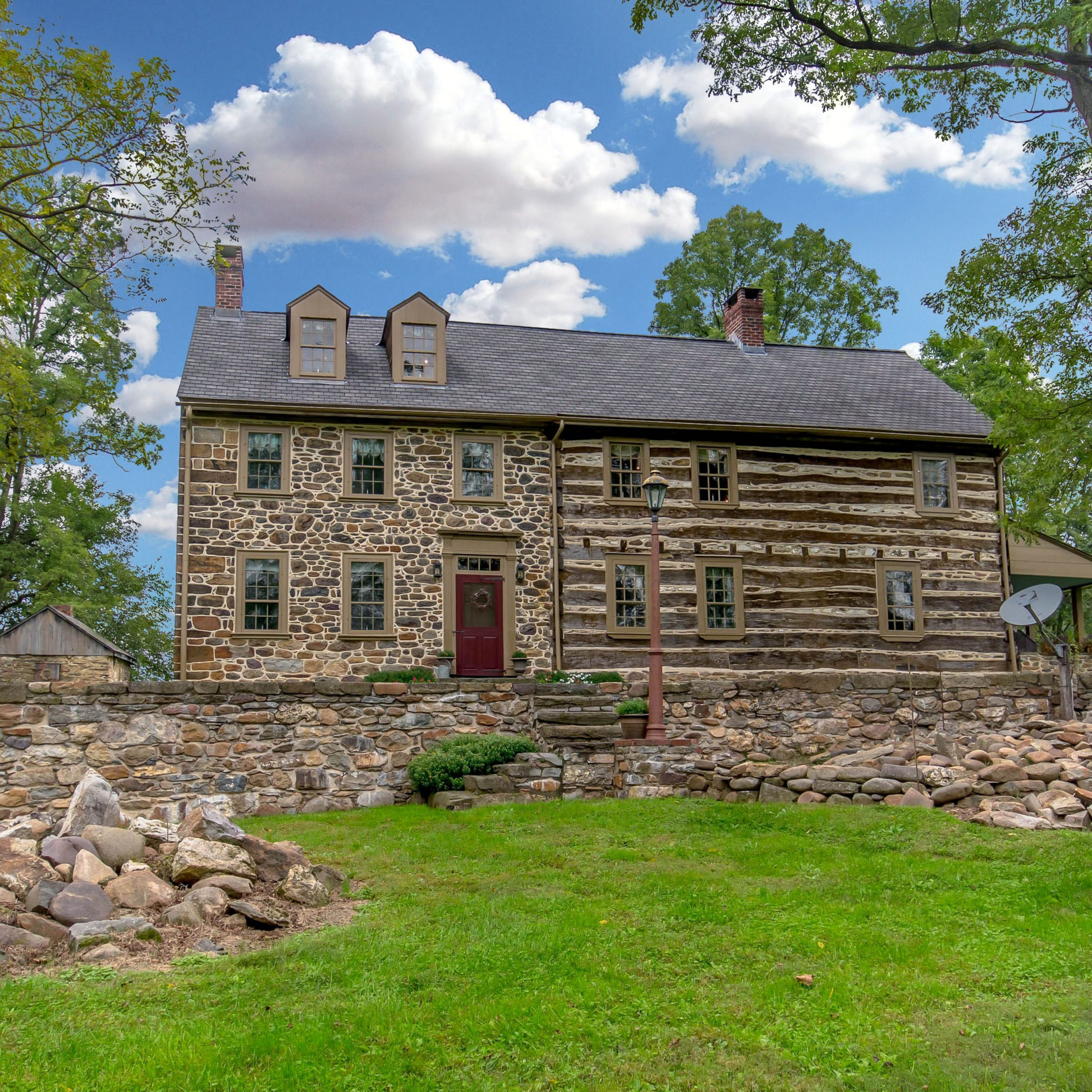 This 1760's log and mortar cabin and early 1800's stone