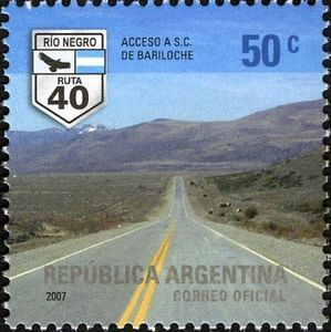 Road leading to S.C. de Bariloche (Rio Negro)