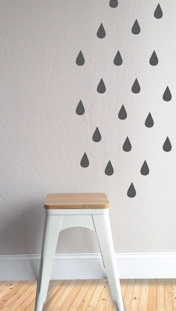 32qty Rain Drop Decals 1 5w X 3h Fully Removable And Reusable Wall