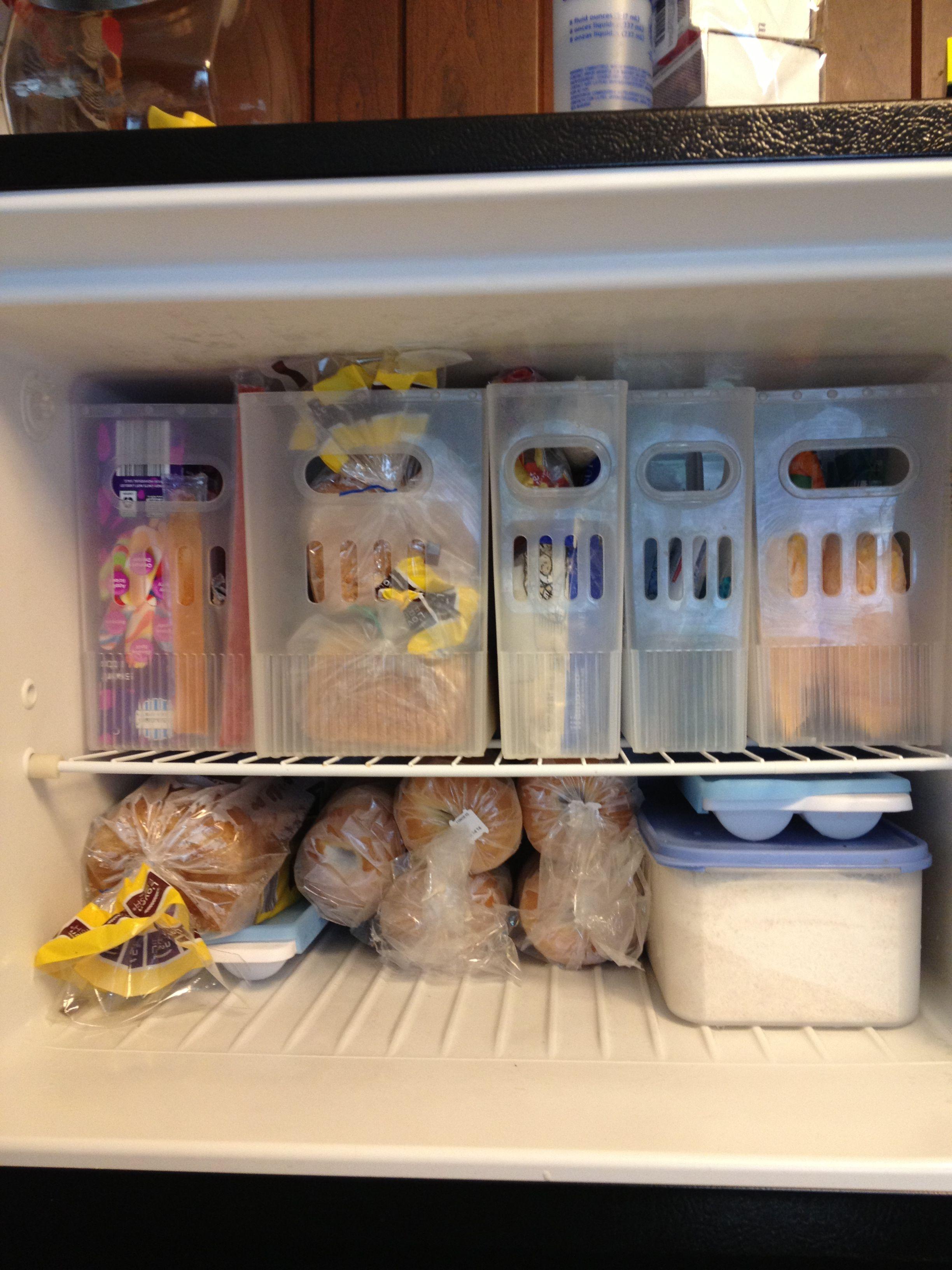 Small freezer organized!   DONE or MADE!   Pinterest   Freezer ...