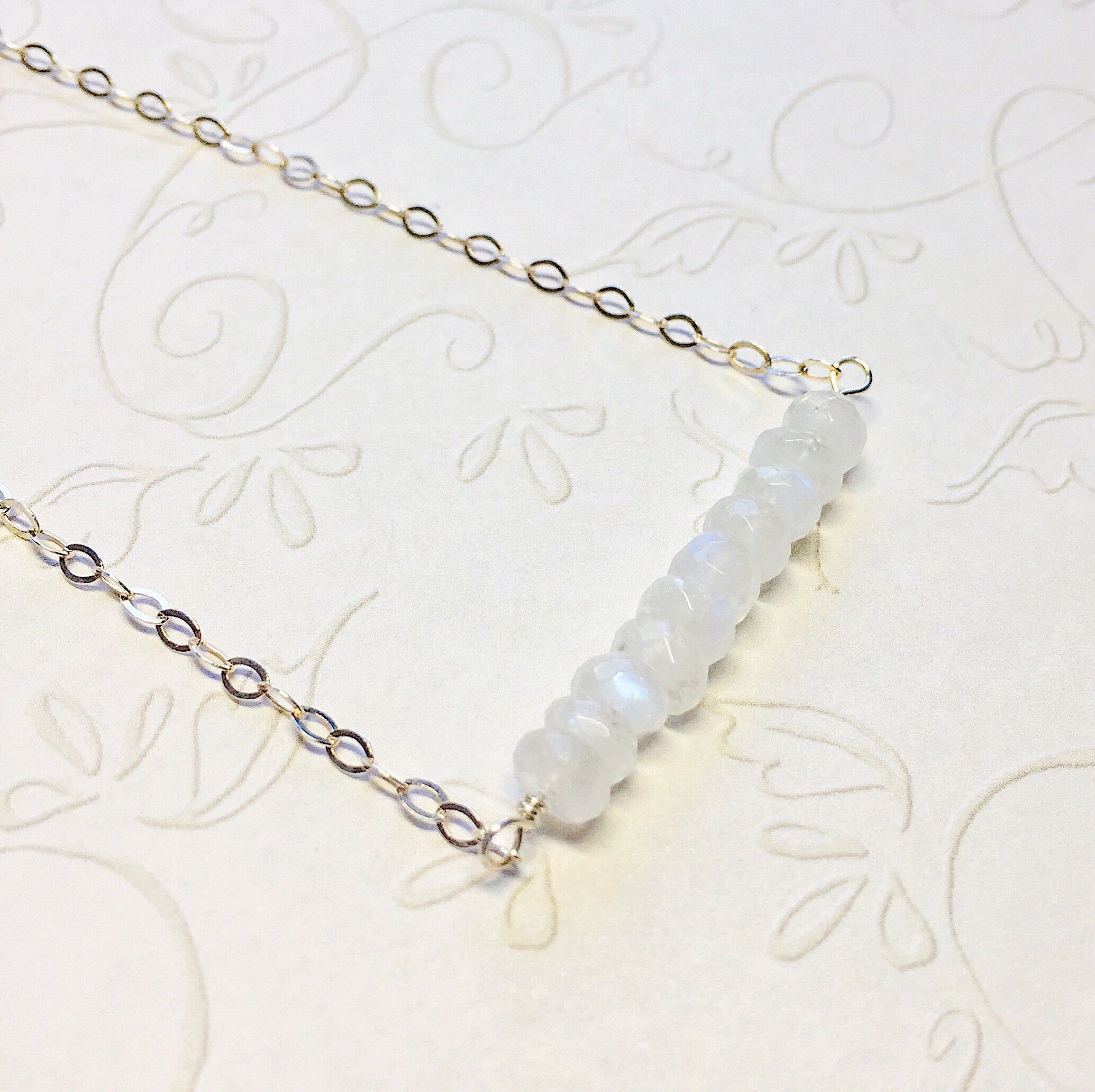 A personal favorite from my Etsy shop https://www.etsy.com/listing/509736868/sterling-bar-necklace-moonstone-necklace