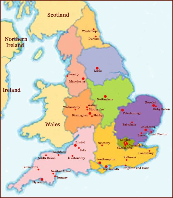 Map Of Reading England  London Map