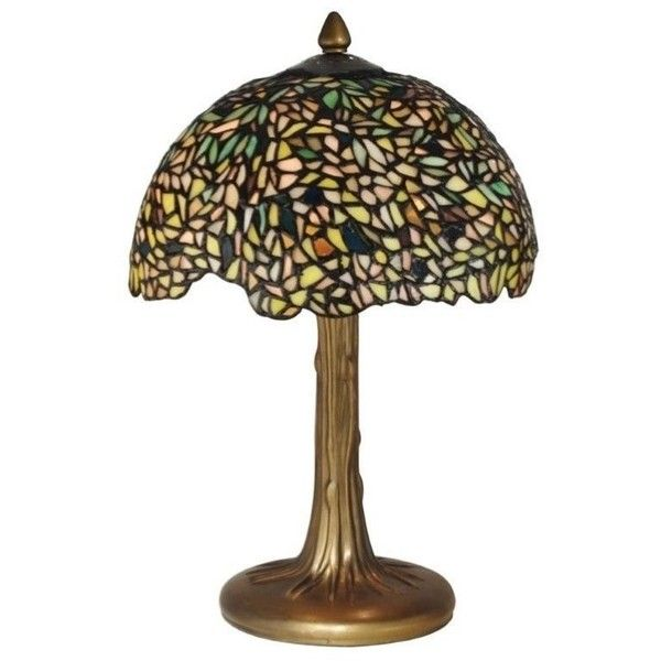 New dale tiffany wisteria table lamp green hand crafted glass bronze verdigris