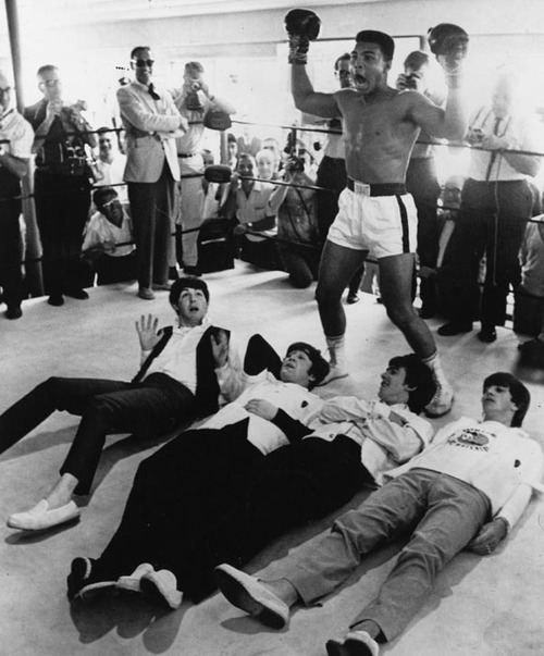 Beatles knocked out by Muhummad Ali