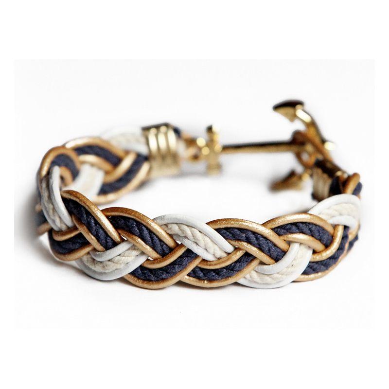 Braided Rope Bracelet Bonaventure Hull reupcycled jewelry