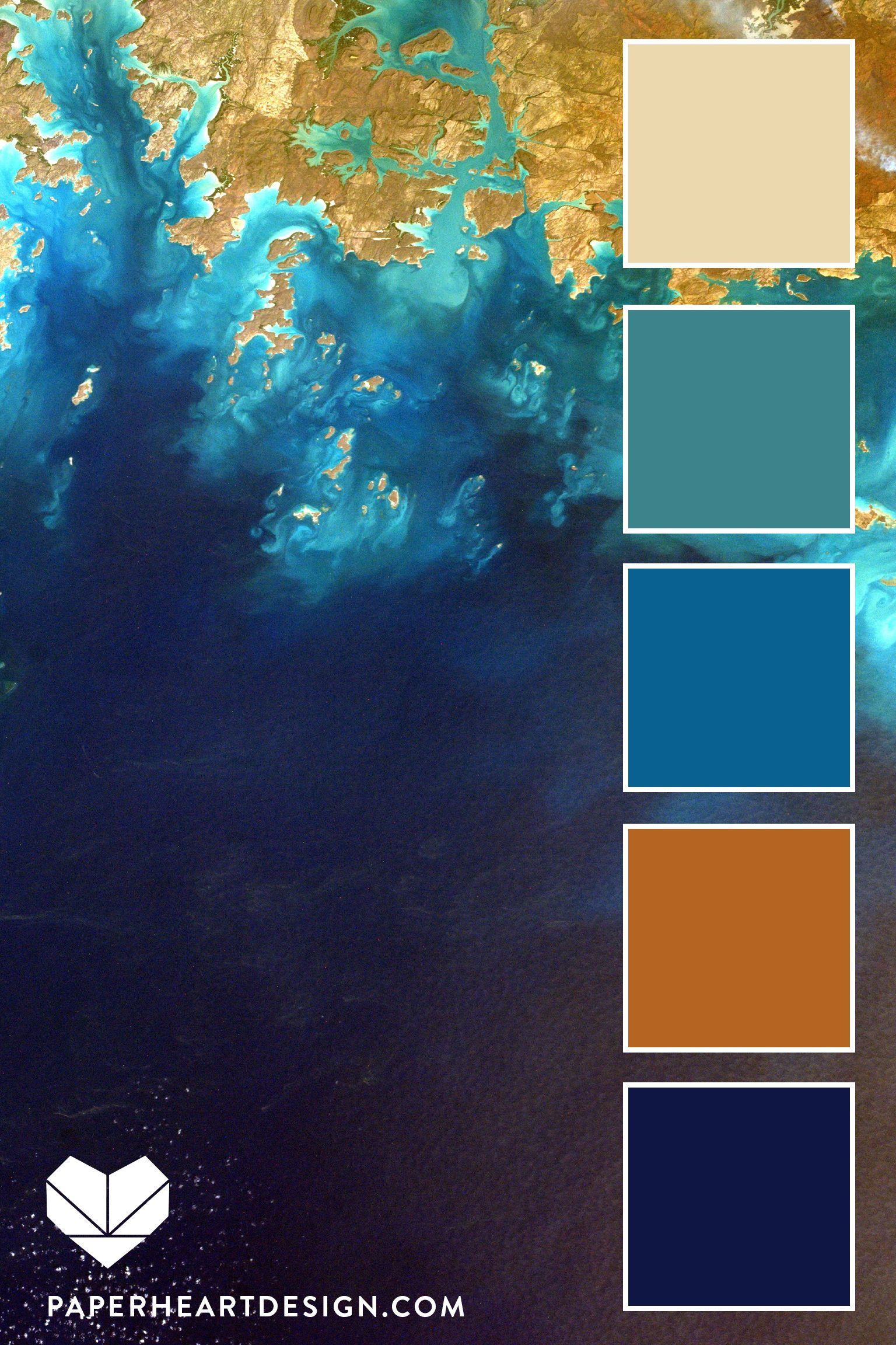 Pantone Color of the Year 2020: Classic Blue Color Palettes, Shore of the Sea