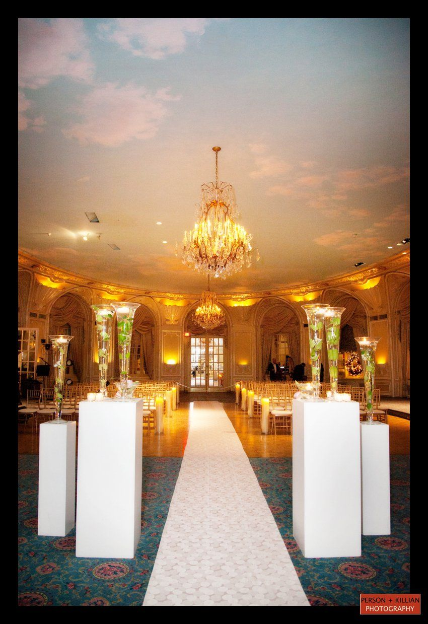 A wedding ceremony in the Fairmont Copley Plaza Oval Room