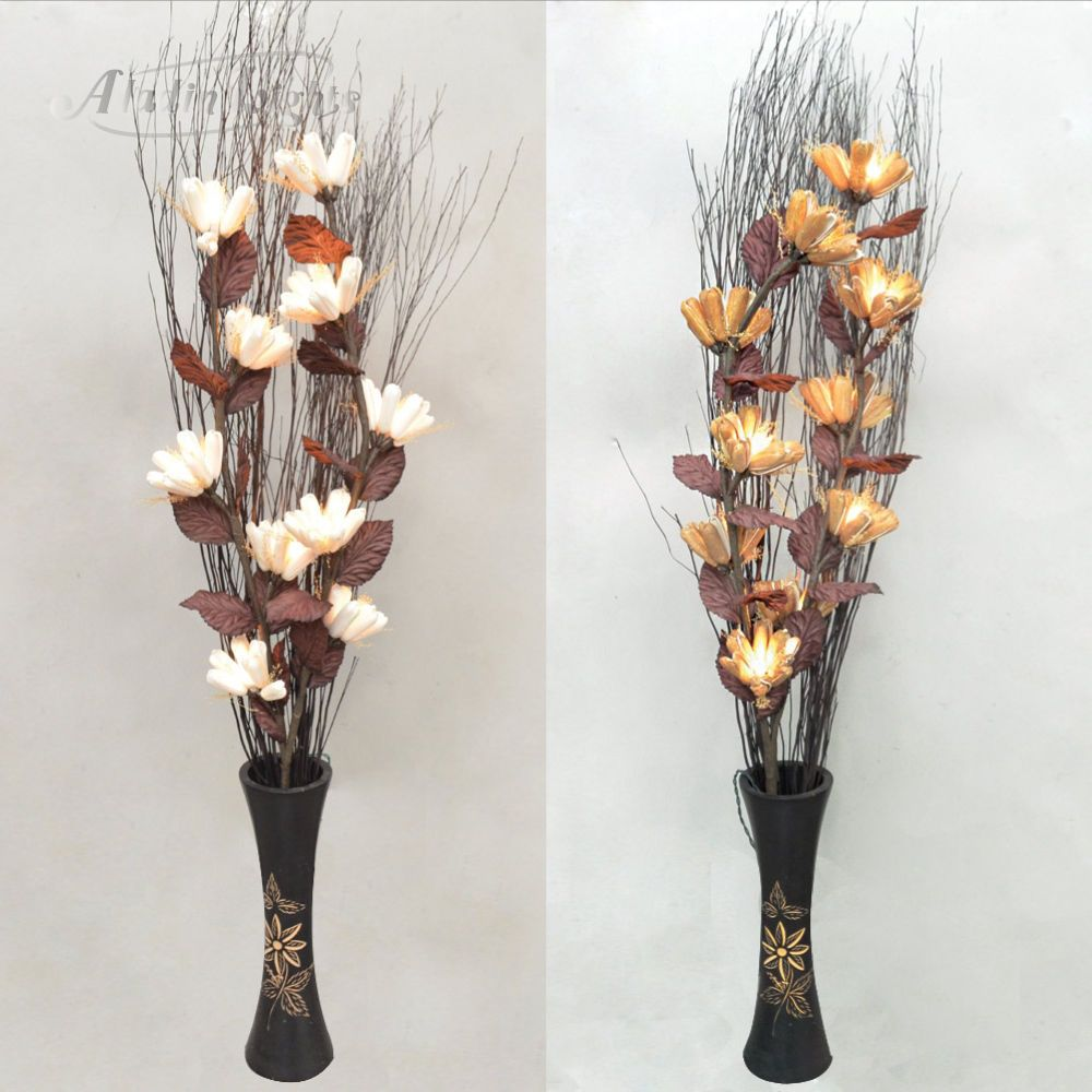 Gaiashine Lighted Twig Branches Protea Artificial Flowers Home Patio Lamps Uk Flores