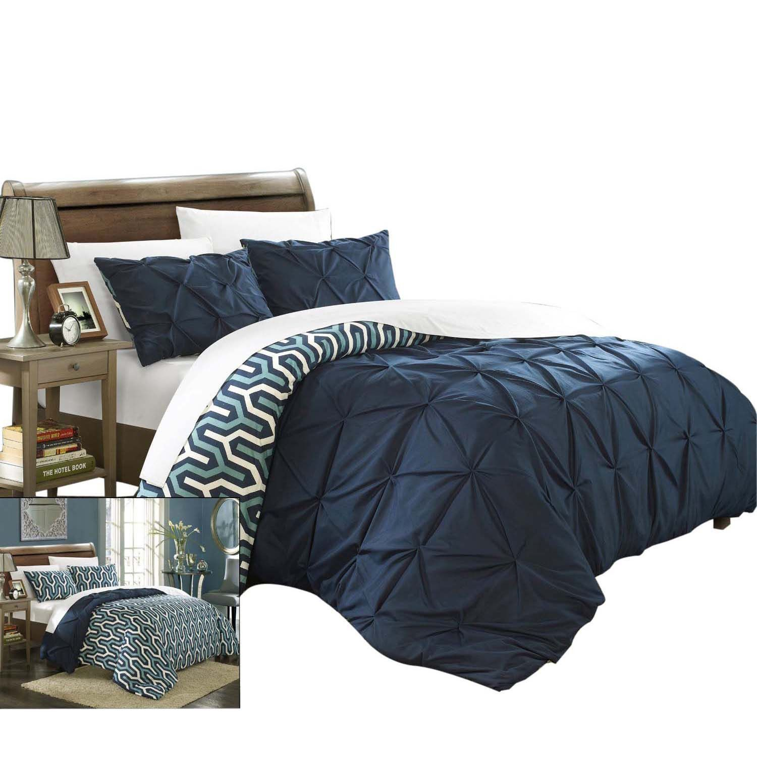 bedding duvet and sets blue pin king cover city scene
