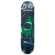 "Zero Skateboards Friday Night Sandoval Impact Light Pro Skateboard Deck 7.75"""