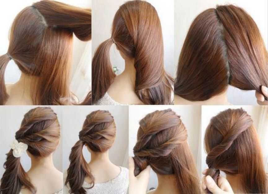 Easy Hairstyles For Long Hair To Do Yourself Diy Easy Ponytail ...