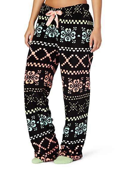 9ee508b2bdcf image of Neon Fairisle Plush PJ Pant Sleep Pants