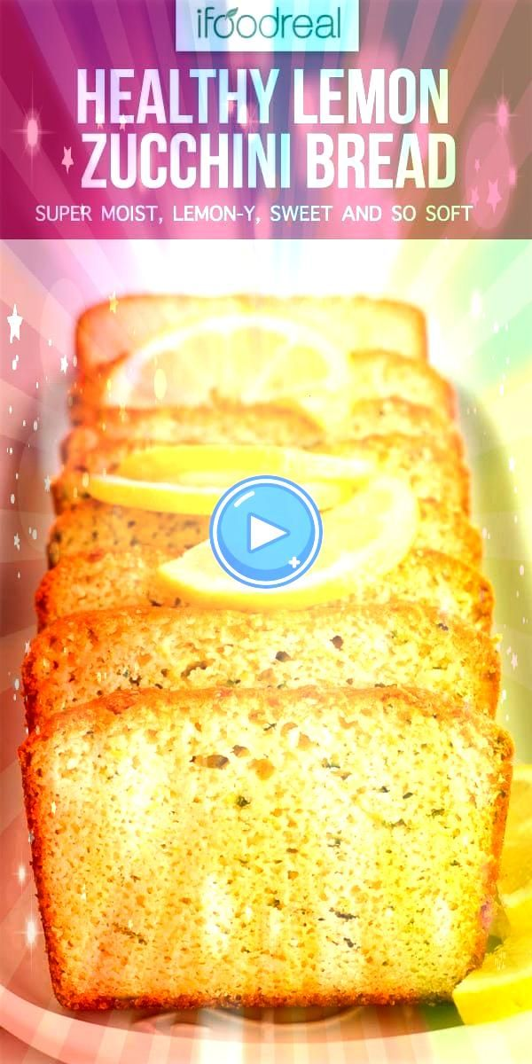 Lemon Zucchini Bread that is super moist lemony sweet and so soft It will blow your mind Great for dessert and healthy enough for breakfast or snackHealthy Lemon Zucchini...