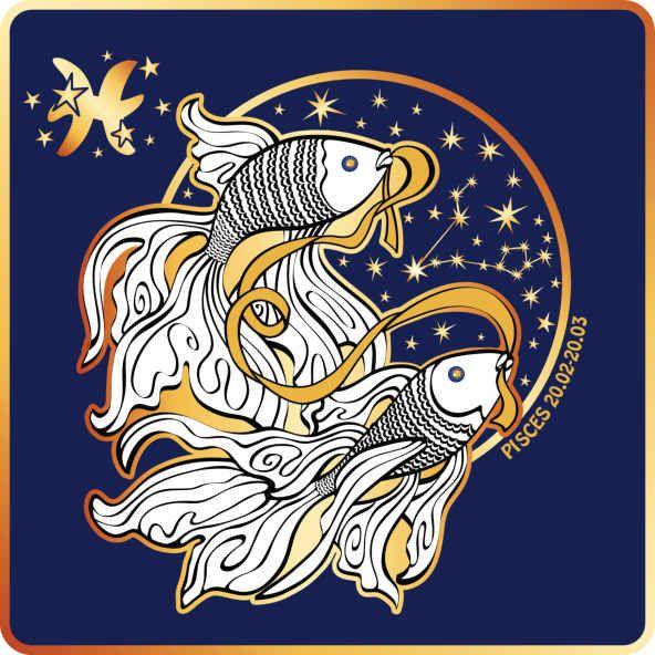 Знак рыбы открытка