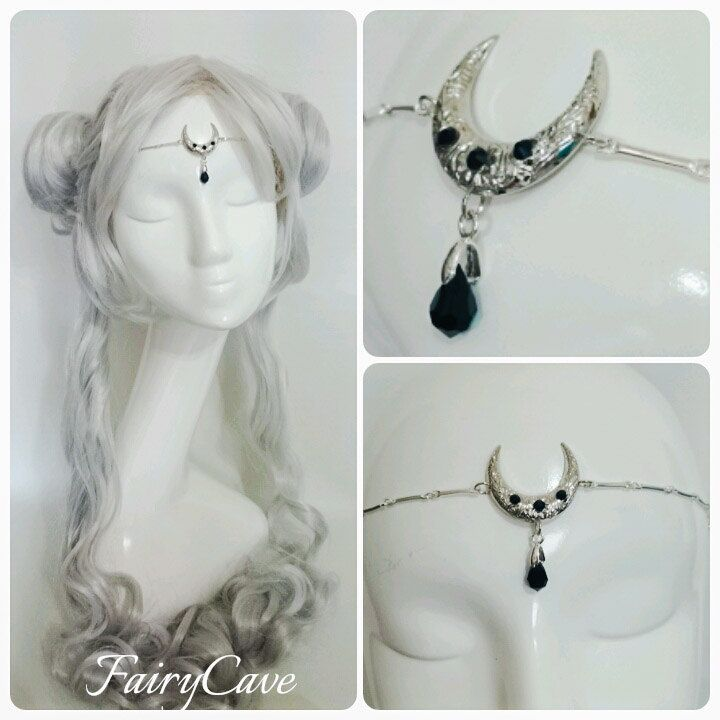 Tiara Moonchild de FairyCaveShop en Etsy
