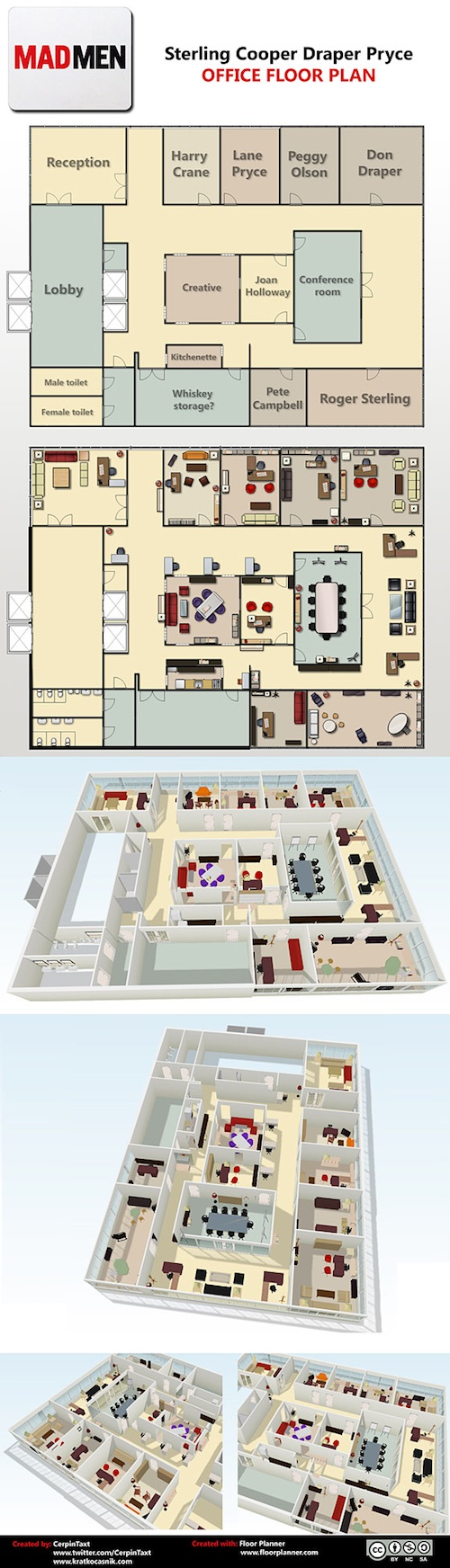 Buzz Break The Floor Plan for Sterling Cooper Draper Pryce Has Arrived