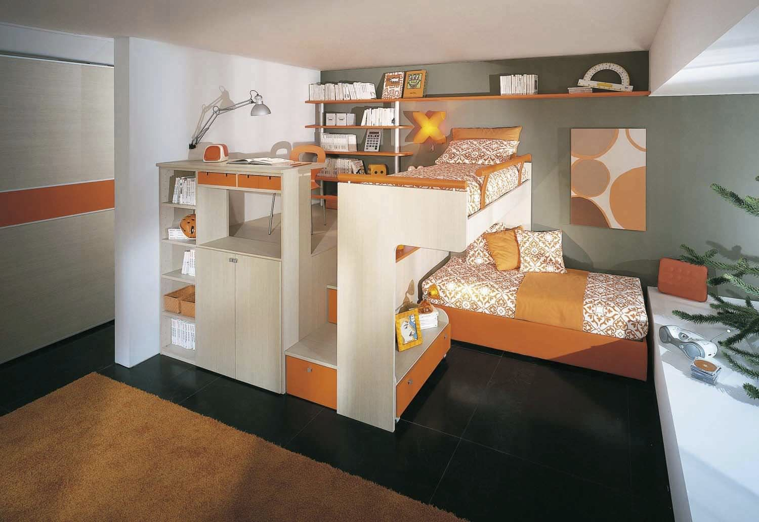 Chambre d 39 enfant mixte arcamagica 2 sangiorgio mobili ideas small bedroom home bedroom - Chambre enfants mixte ...