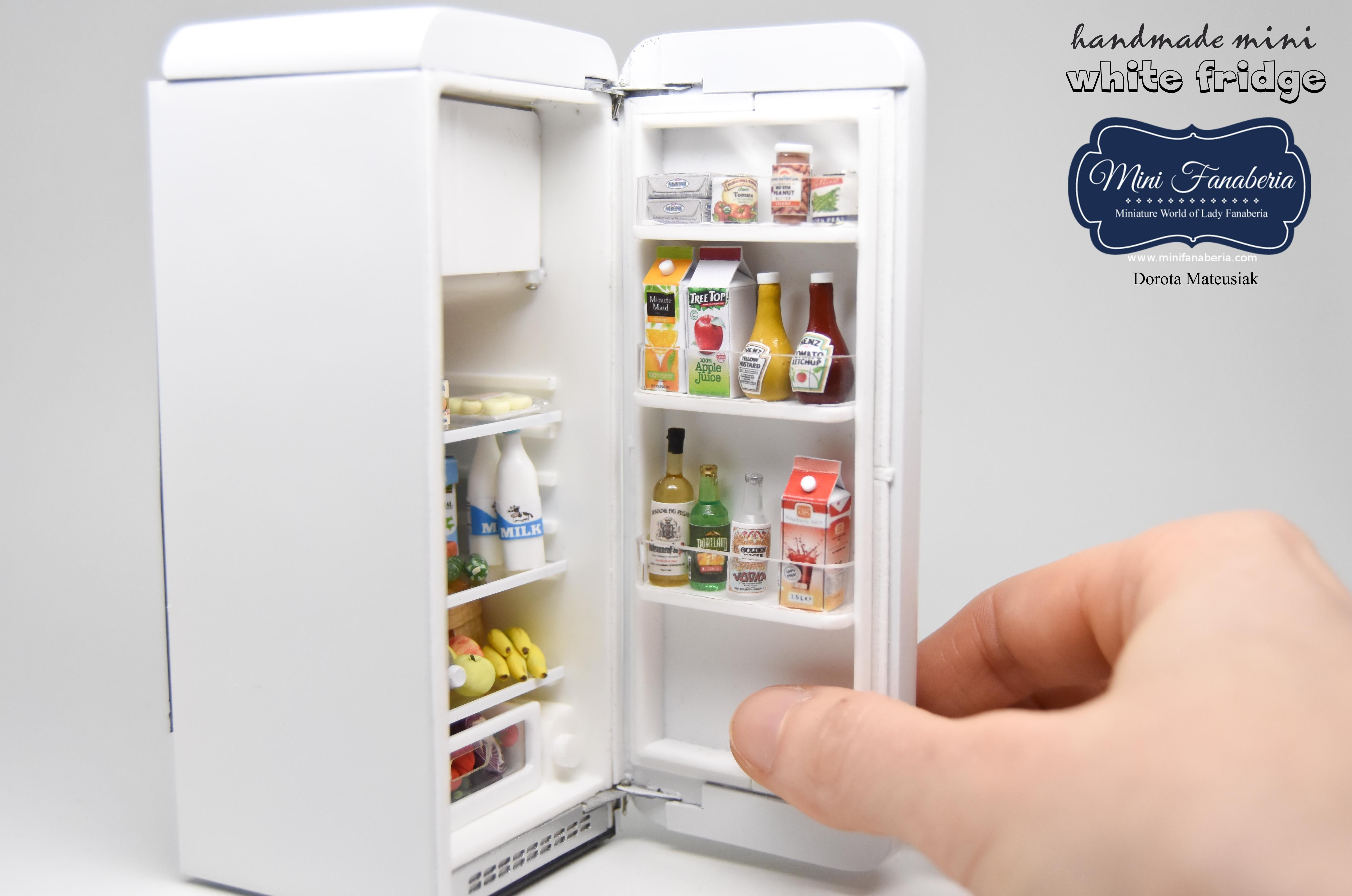 A Retro Fridge With Opening Door, Pull Out Crispers, Working