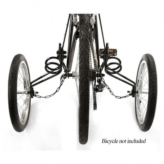 Paire de Stabilisateurs de roue Vélo bébé//enfant en Acier chromé