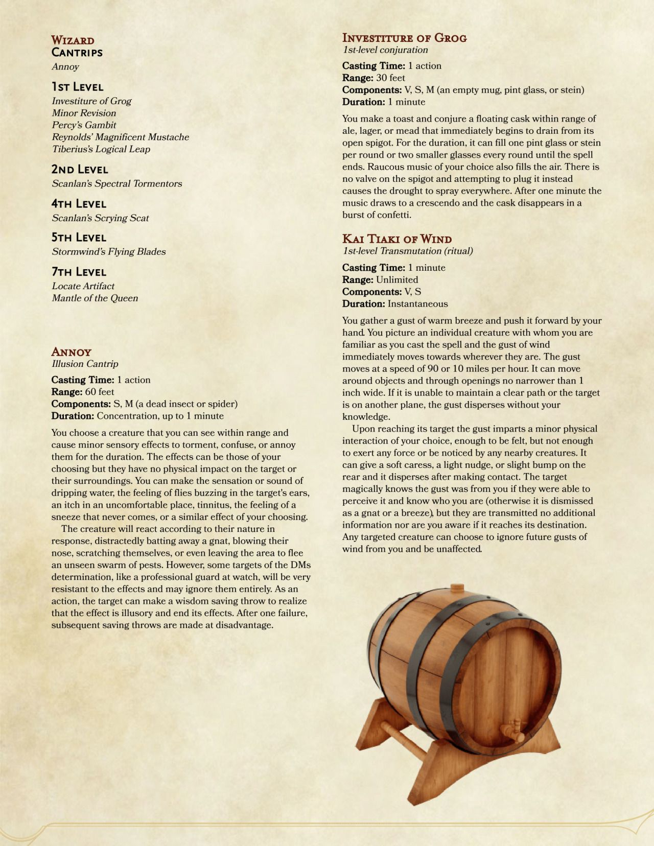 DnD 5e Homebrew critical role spell list 2 | Dungeons & Dragons in