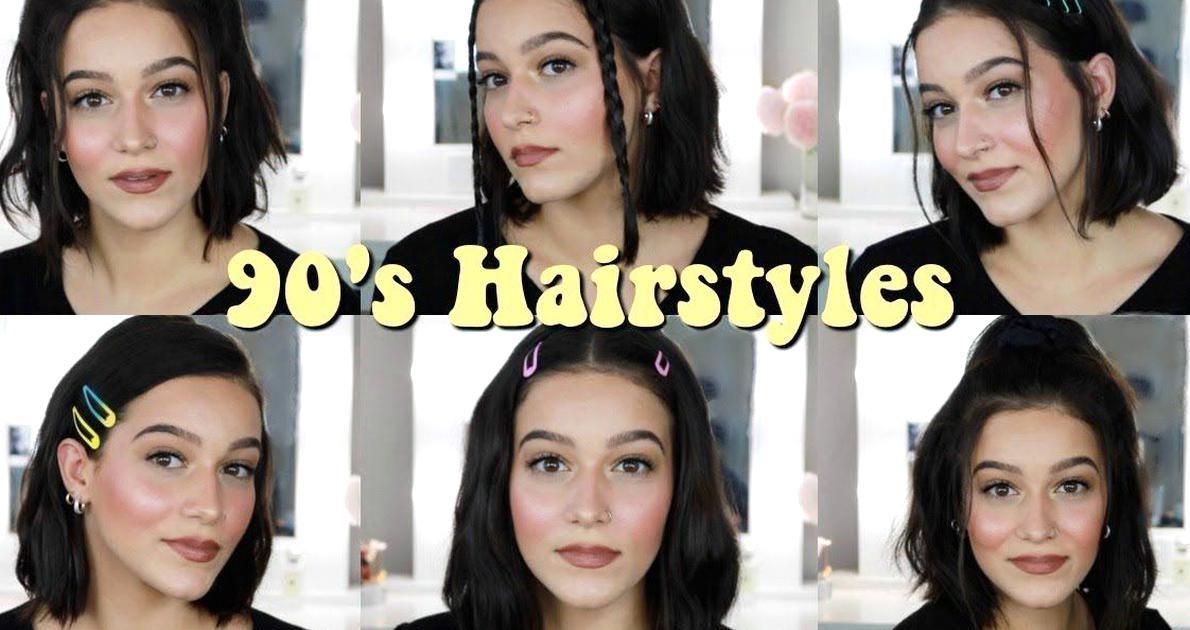 Easy 90s Inspired Aesthetic Hairstyles For Short Hair 2019 Youtube In 2020 Hair Styles Short Hair Styles 90s Hairstyles