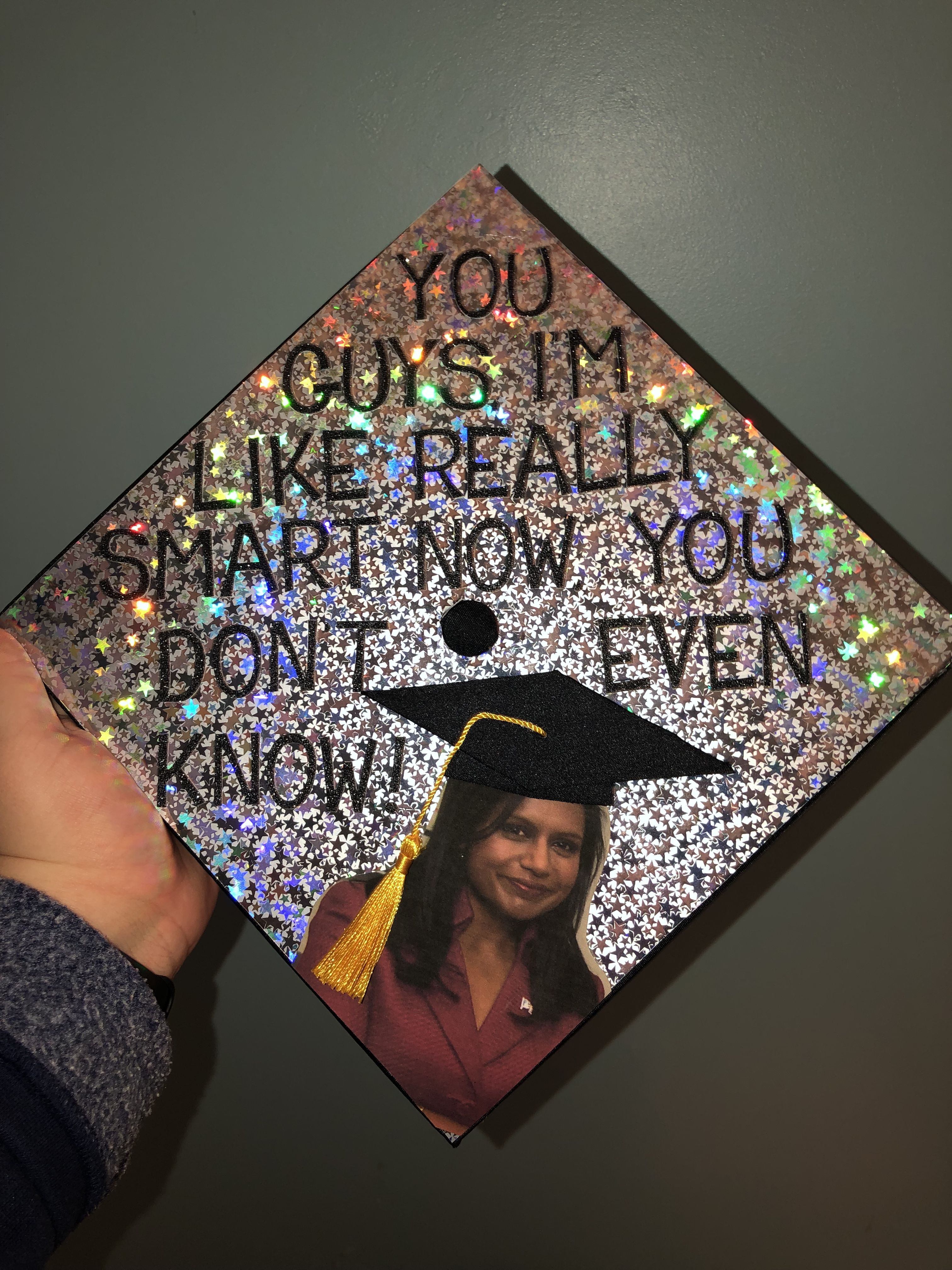 Kelly from The Office graduation cap decoration  High school