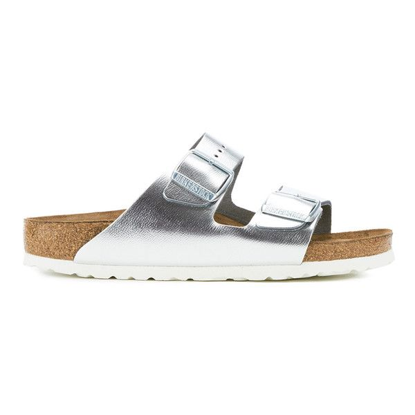 Get Birkenstock Women's Arizona Slim Fit Double Strap Sandals - Metallic  Silver now at Coggles - the one stop shop for the sartorially minded  shopper.