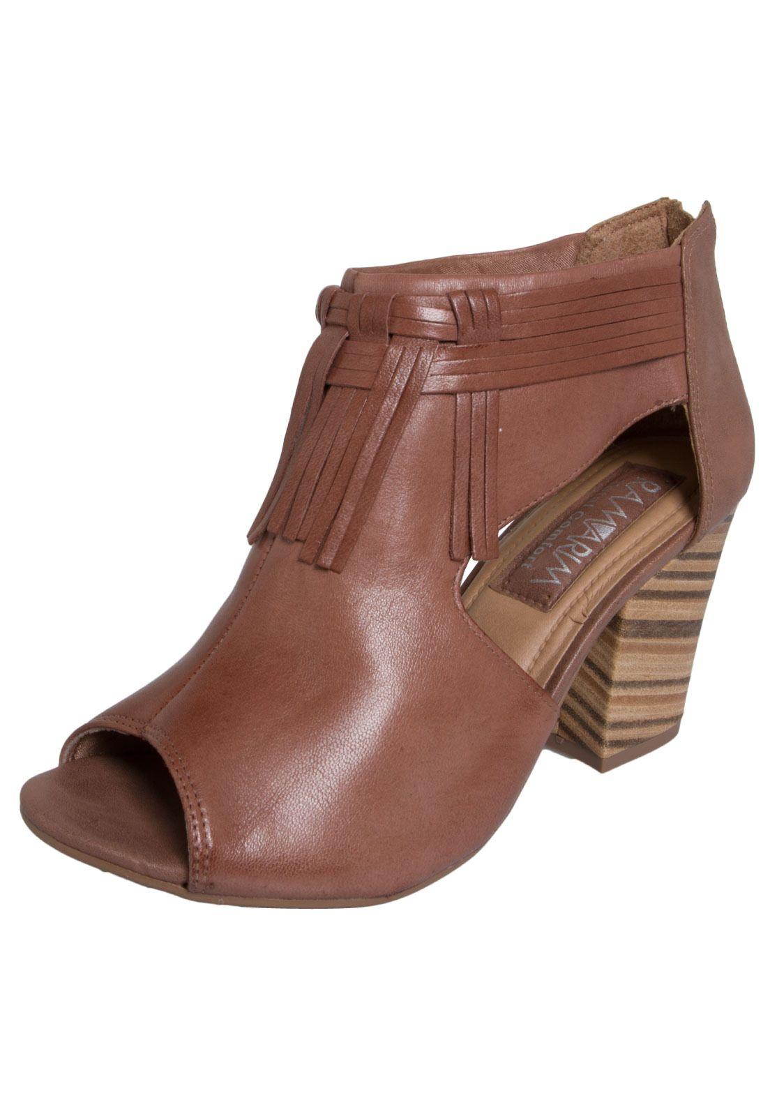 814c43cb7 Ankle Boot Ramarim Franja Marrom | look | Shoes, Heeled mules e Fashion