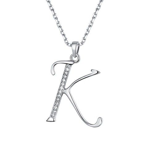 05f2c4a550af4 Letters Initial Necklace in Sterling Silver ( A ~ Z ) in 2019 ...