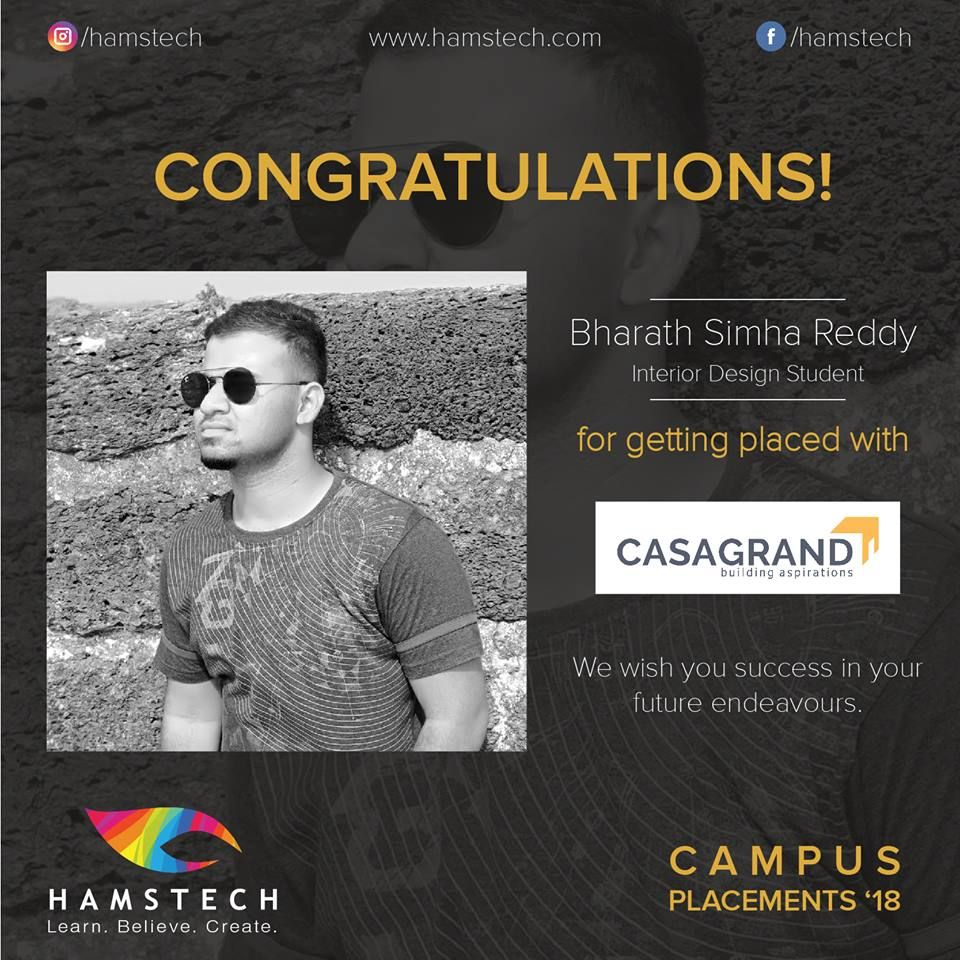 Wishing All The Success To Hamstech S Interiordesign Student