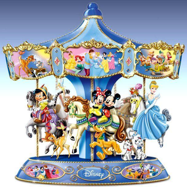 Wonderful World Of Disney Musical Carousel Music Boxes
