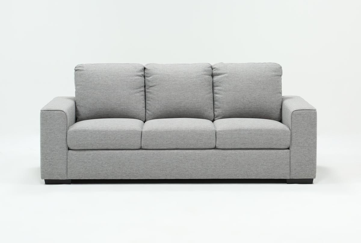 Neutral, versatile, comfortable style is what our Lucy sofa is all about. This streamlined modern piece features a design that fits how you live in your living room. Thanks to supportive cushions and tailored upholstery, it will truly be a destination. You even have a choice of grey and dark grey versions, so you can tailor your space to your taste.