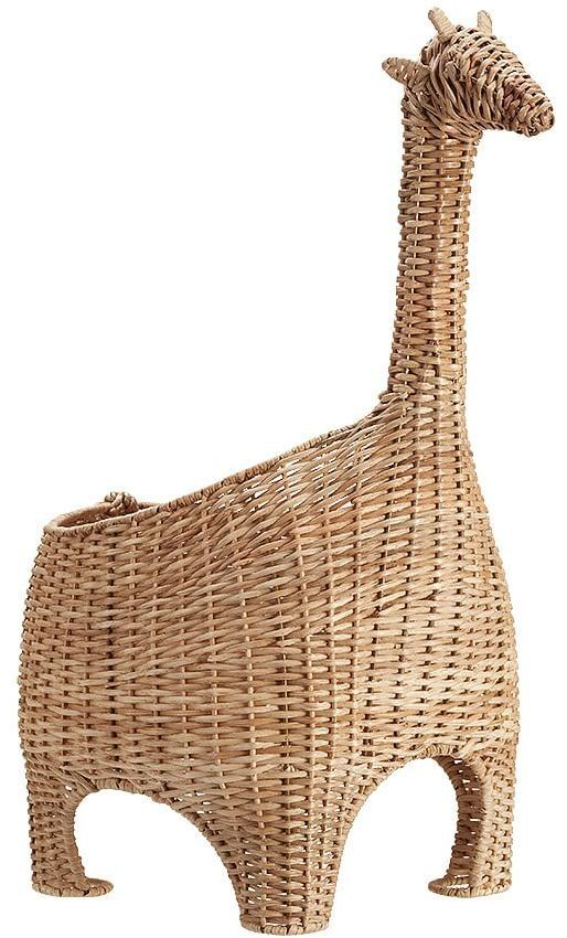 Giraffe Shaped Wicker Basket Natural From Pottery Barn