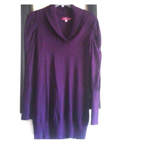 Cute Dress Cute Deep purple sweater dress that is adorable with ...