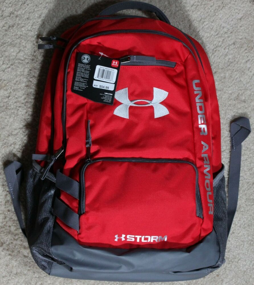 New Under Armour  With Tags Hustle Storm 3.0 Backpack Laptop School Bag