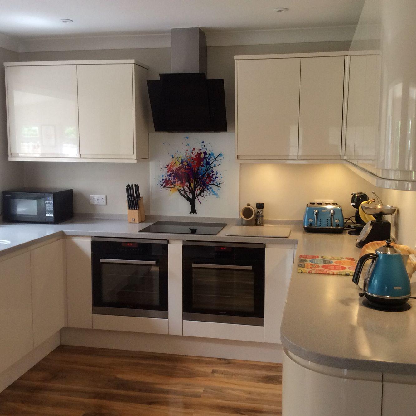 Kitchen Design And Fitting Rainbow Tree Glass Cooker Splashback Glass Splashbacks Are The