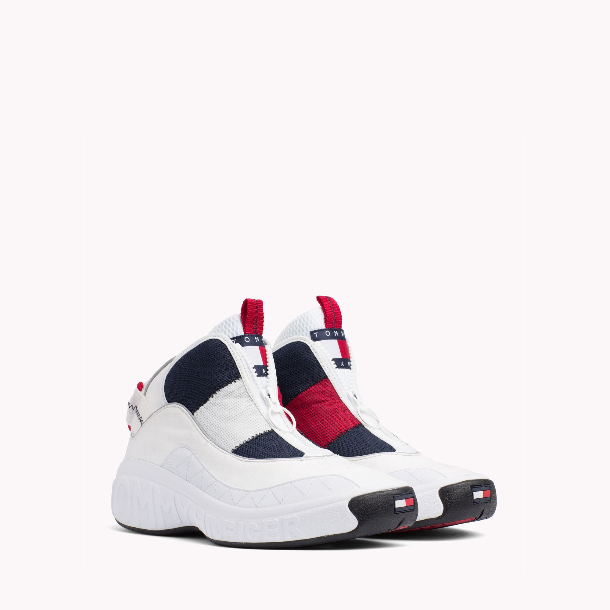 0ffc54aaf Tommy Hilfiger Retro Icon Sneaker - White Blue Red 11.5
