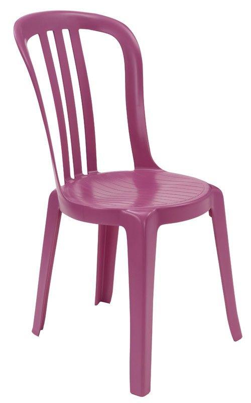 chaise monobloc miami bistrot - fuschia - GROSFILLEX - Table - Les ...