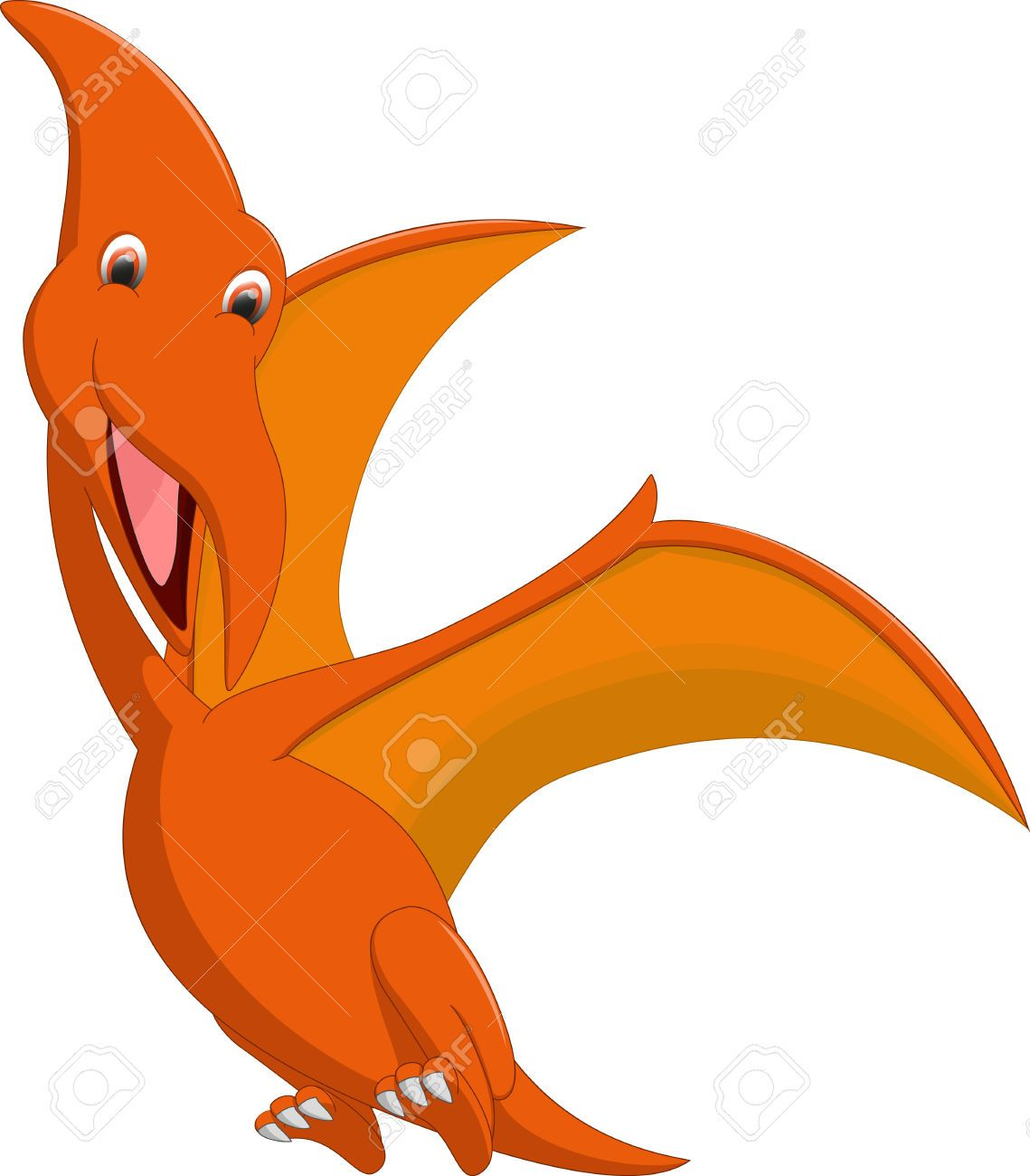 cute pterodactyl cartoon royalty free cliparts vectors and stock rh pinterest com