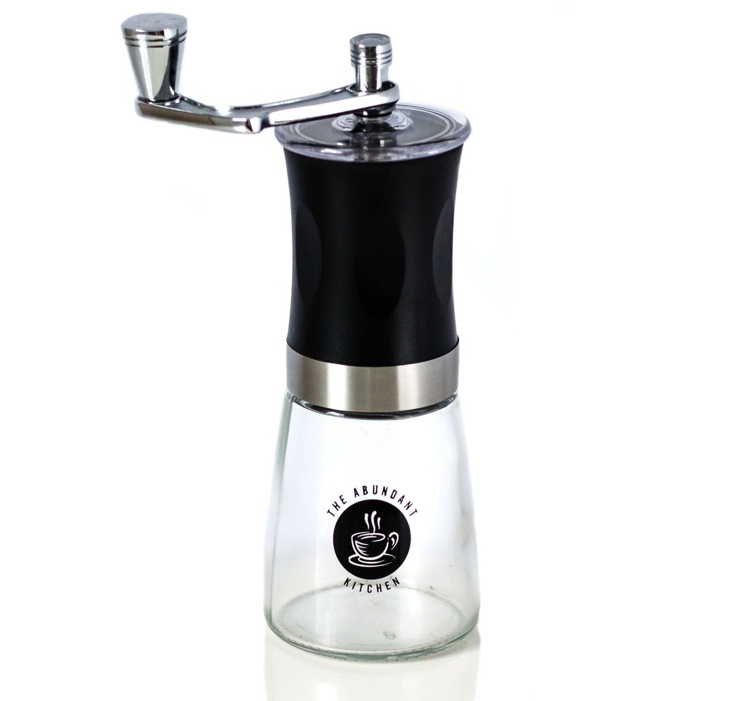 The Abundant Kitchen Slim Coffee Grinder with Burr Spice Mill and Glass Bottom * More info could be found at the image url.