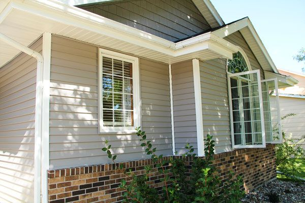 Grey Siding Red Brick House Exteriors Pinterest